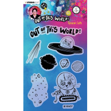 Art by Marlene Clear Stamps Out Of This World nr.71 Space Cats