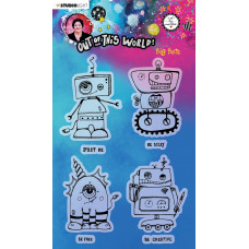 Art by Marlene Clear Stamps Out Of This World nr.73 Big Bots