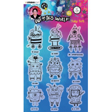 Art by Marlene Clear Stamps Out Of This World nr.74 Baby Bots