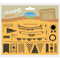 Aladine Stamp set - Flags and Bunting