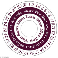 Aladine Maxi Stamp - French Calendar