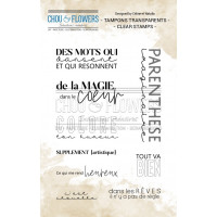 Chou & Flowers Clear stamps - C'est Chouette