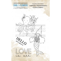 Chou & Flowers Clear stamps - Gnome sirene (mermaid gnome)