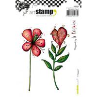 Carabelle Studio stamps '2 Flowers'