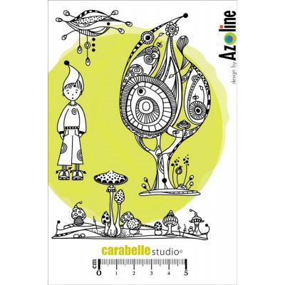 Carabelle Studio A6 cling stamps - Zinouk du sous bois