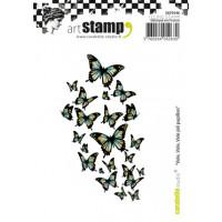 Carabelle Studio A7 cling stamp sheet - Vole, vole joli papillon (butterflies)