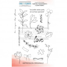 Chou & Flowers Clear stamps - Bouquet d'hiver