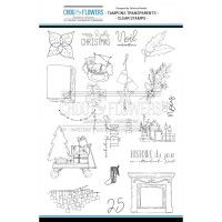 Chou & Flowers Clear stamps - Merry & Jolly