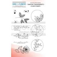 Chou & Flowers Clear stamp - Plantes étoilées
