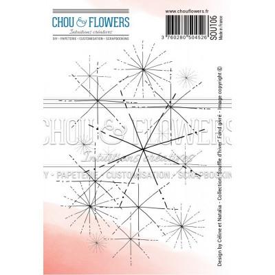 Chou & Flowers EZ cling stamp - Fond givré