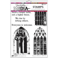 Dina Wakley Media stamps - Everyone is Welcome