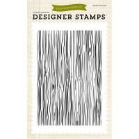 Wood grain large stamp by Echo Park