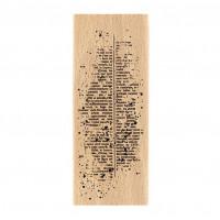 Texte moucheté - Wood Mounted Florilèges Design Stamp
