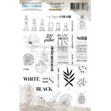 Chou & Flowers Clear stamps - Collection Journal Chromatique Black and White