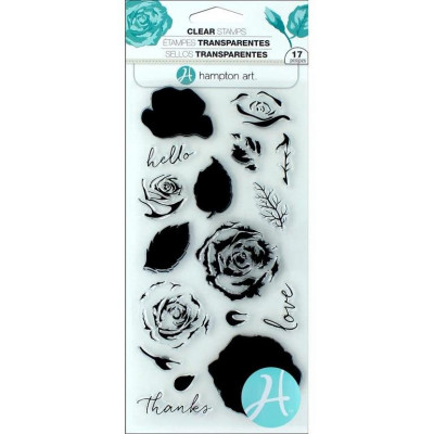 Hampton Art layering stamp set - Roses