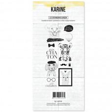 Clear stamps Hey Baby Les Cro'mignons garçon- Les Ateliers de Karine