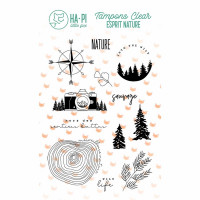 Nature Sauvage clear stamps - HA PI Little Fox Esprit Nature collection