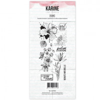 Clear stamps - Long Courrier Fleurs: Ateliers de Karine
