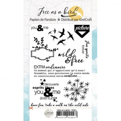 Free as a Bird - Clear stamps by Les Papiers de Pandore