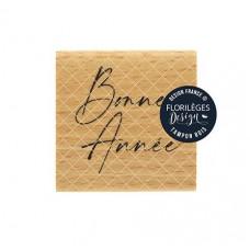 Bonne Année -  Wood Mounted Florilèges Design Stamp