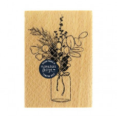 Bouquet d'hiver (winter bouquet) -  Wood Mounted Florilèges Design Stamp