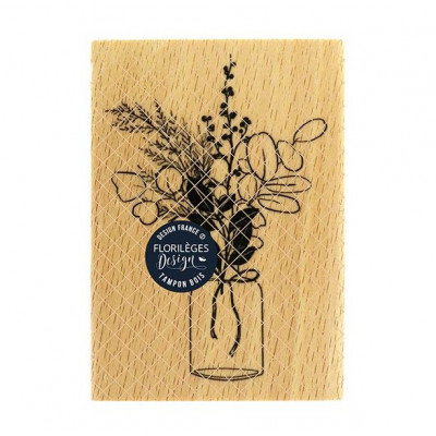 Bouquet d'hiver (winter bouquet) -  Wood Mounted Florilèges Design Stamp