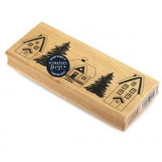 Maisonnettes -  Wood Mounted Florilèges Design Stamp