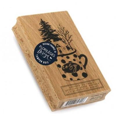 Mug Cosy -  Wood Mounted Florilèges Design Stamp