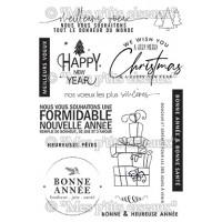 Meilleurs Voeux stamps - Flocons collection by Mes p'tits ciseaux