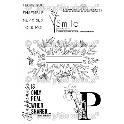 Smile clear stamps - Ô Jardin collection by Mes p'tits ciseaux