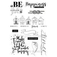 Happiness Clear stamps - Embruns collection by Mes p'tits ciseaux