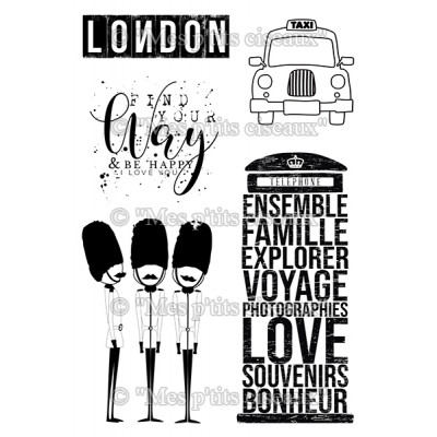 Londres London clear stamps - Grunge collection by Mes p'tits ciseaux