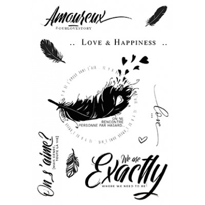 Grand Amour clear stamps - Plume collection by Mes p'tits ciseaux