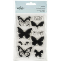 Spellbinders Clear Acrylic Stamps - Layered Butterflies