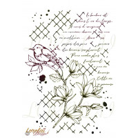 VIE PRECIEUSE - large clear stamp by Lorelaï Design Bloom collection