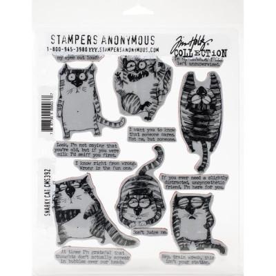 Tim Holtz cling rubber stamp set - Snarky Cats