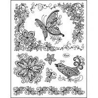 Viva Decor stamp set - Scribble Butterfly