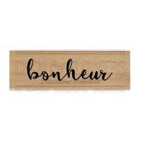 Chou & Flowers Wood Mounted Stamp - Bonheur