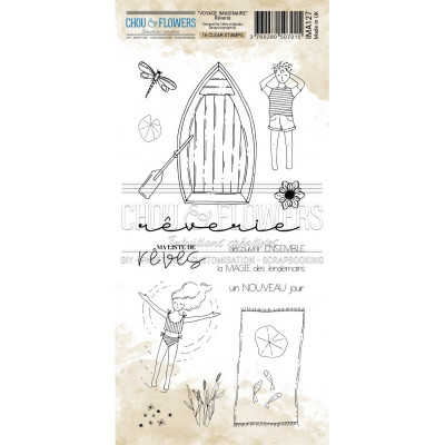 Chou & Flowers Clear stamps - Voyage Imaginaire Rêverie dream