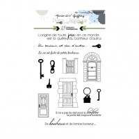 Porte Bonheur stamps Keys and Doors by Marie LN Geffray