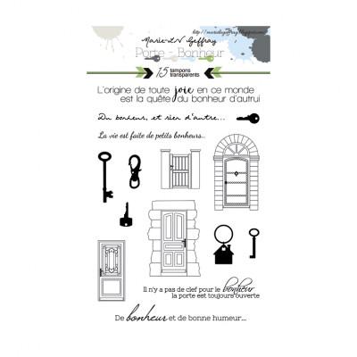 Porte Bonheur stamps Keys and Doors by Marie LN Geffray