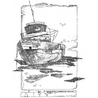 Crafty Individuals unmounted stamp - Of the Sea - boat