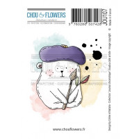 Chou & Flowers EZ stamps - Collection Journal Chromatique Doudou Câlin Artiste - Cuddly artist hug