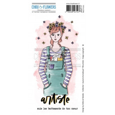 Chou & Flowers EZ stamps - Collection Journal Chromatique Fille artiste