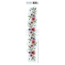 Chou & Flowers EZ stamps - Collection Journal Chromatique Frise Fleurs Flower border
