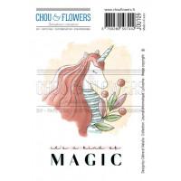 Chou & Flowers EZ stamps - Collection Journal Chromatique Unicorn