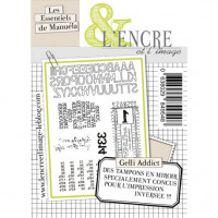 Gelli Addict - clear stamps by L'Encre et L'Image