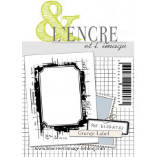 Grunge Label - clear stamp by L'Encre et L'Image