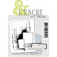 Grunge Postcard - clear stamp by L'Encre et L'Image