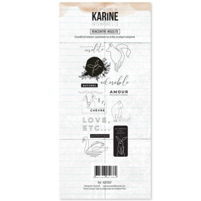 Clear stamp Intemporelle Rencontre insolite - Les Ateliers de Karine